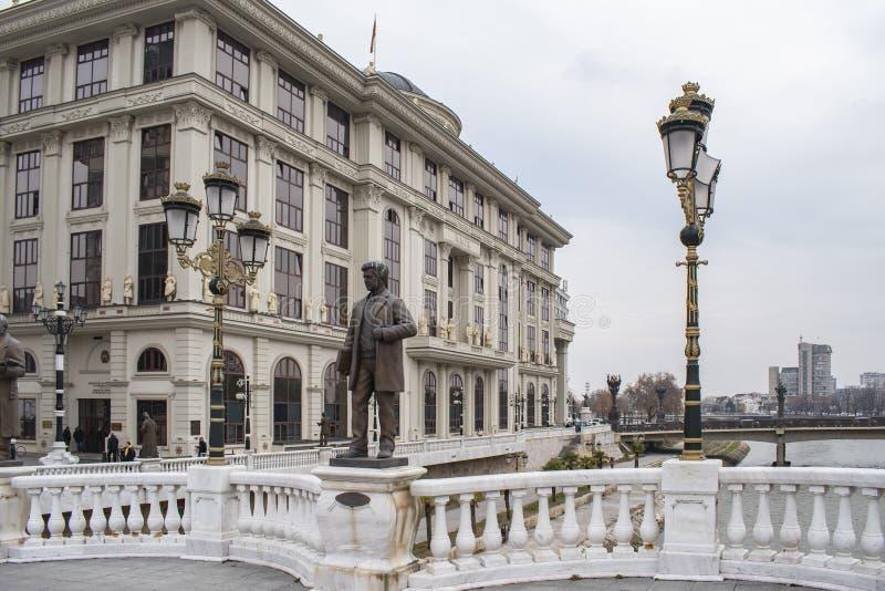 Weergeven van Ministerie van Buitenlandse zaken die van Art Bridge bouwen royalty-vrije stock afbeeldingen