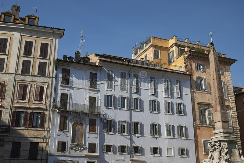 Weergeven van Piazza della Rotonda royalty-vrije stock foto's