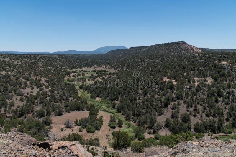 Weergeven van Pinon-Kampeerterrein in New Mexico royalty-vrije stock fotografie