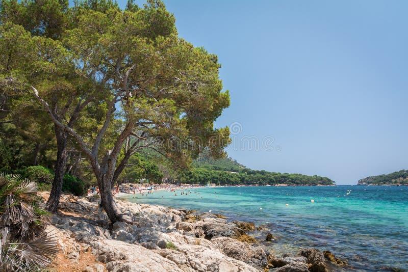 Weergeven van Playa DE Formentor stock fotografie