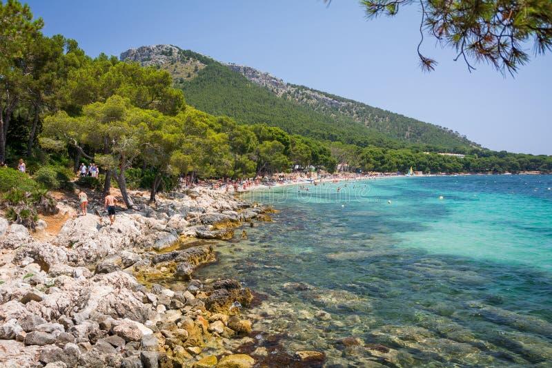 Weergeven van Playa DE Formentor royalty-vrije stock foto