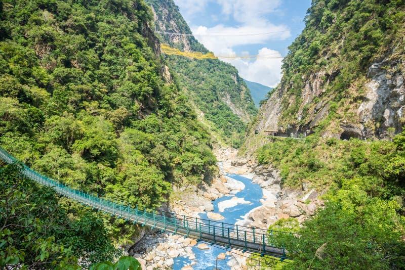 Weergeven van Taroko-Kloof in Hualien, Taiwan royalty-vrije stock fotografie