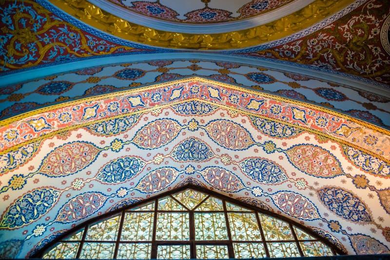 Weergeven van Topkapi-Paleis in Istanboel, Turkije royalty-vrije stock foto