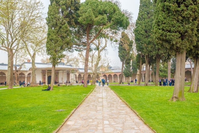 Weergeven van Topkapi-Paleis in Istanboel, Turkije stock foto