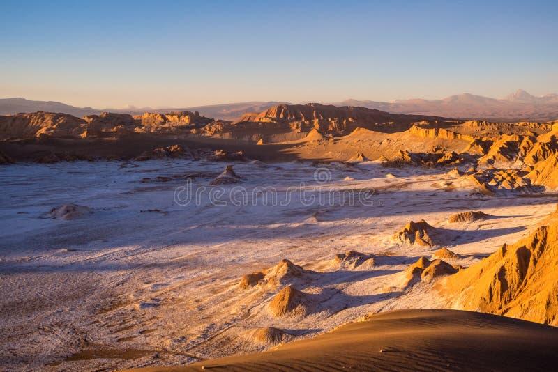 Weergeven van Valle DE La Muerte Death Vallei op de vulkanen Lic royalty-vrije stock afbeelding
