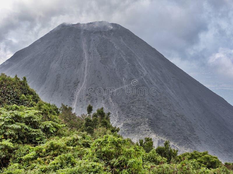 Weergeven van vulkaan Izalco, El Salvador royalty-vrije stock fotografie