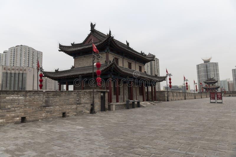 Weergeven van watchtower van Xian de Muurborstweringen - Imagen stock foto