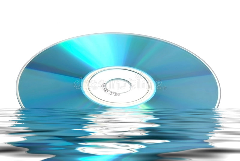 Weerspiegelde CD DVD royalty-vrije stock afbeelding