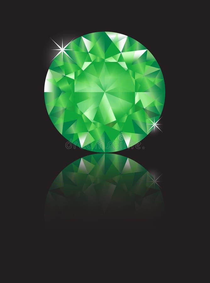 Weerspiegelde smaragd royalty-vrije illustratie
