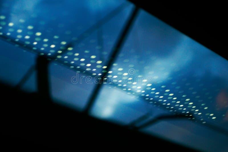 Weerspiegeling van de raiway lichten stock foto's