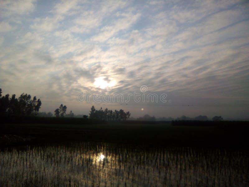 Weerspiegeling van zonlicht stock afbeeldingen