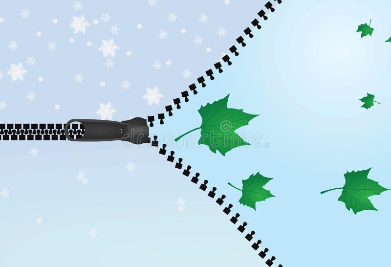 Weerverandering De winter aan de Lente stock illustratie