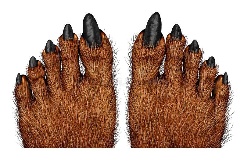 Weerwolfvoeten vector illustratie