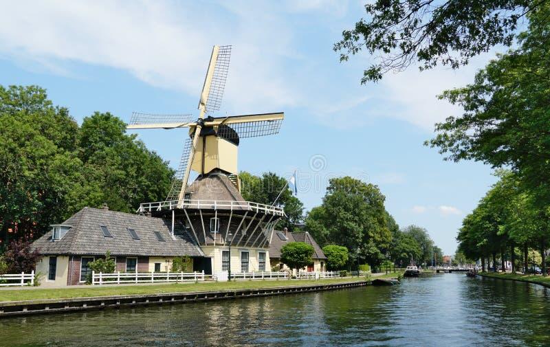 Weesp in Nederland stock fotografie