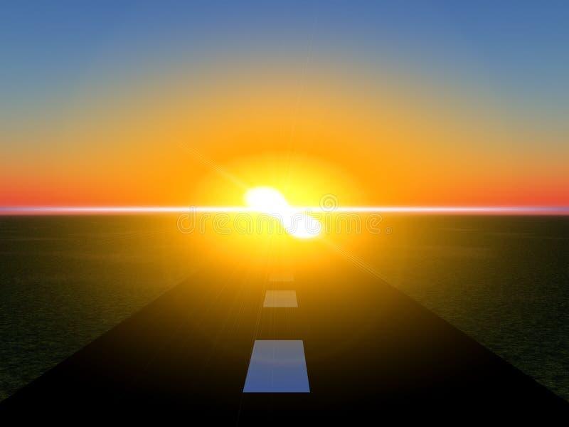 Weg 17 van de zon vector illustratie