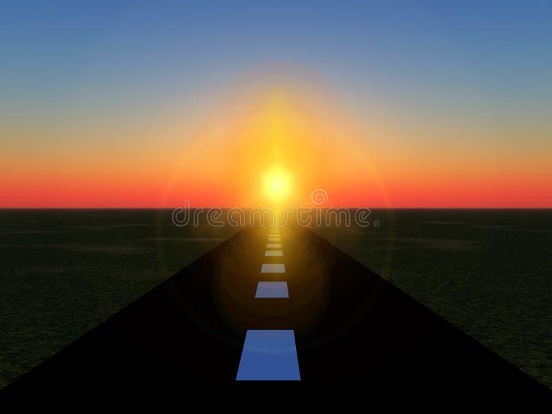 Weg 18 van de zon stock illustratie
