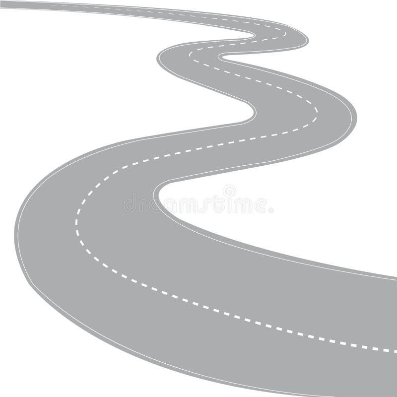 Weg stock illustratie