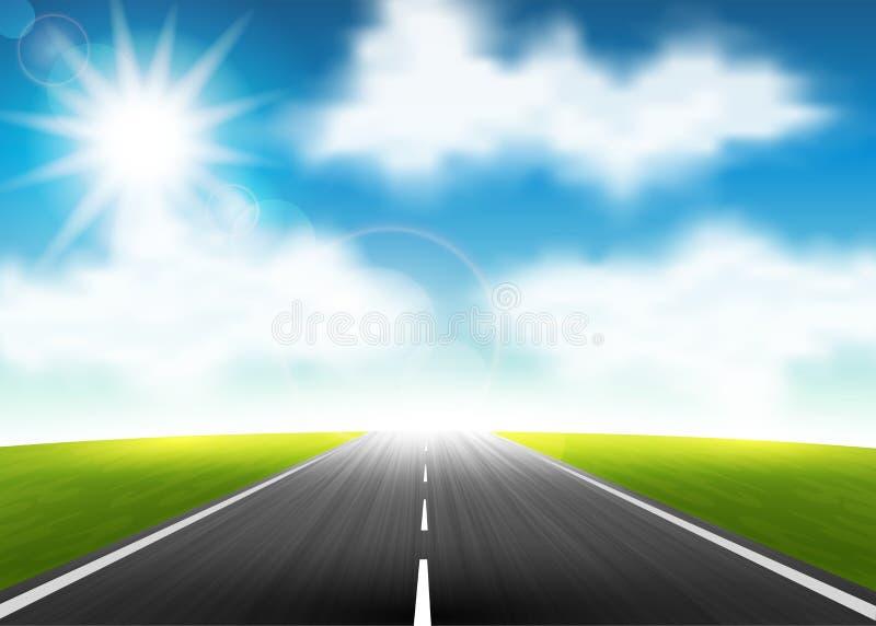 Weg aan de horizon stock illustratie