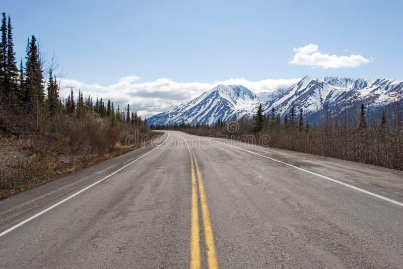 Weg aan de Waaier van Alaska royalty-vrije stock afbeelding