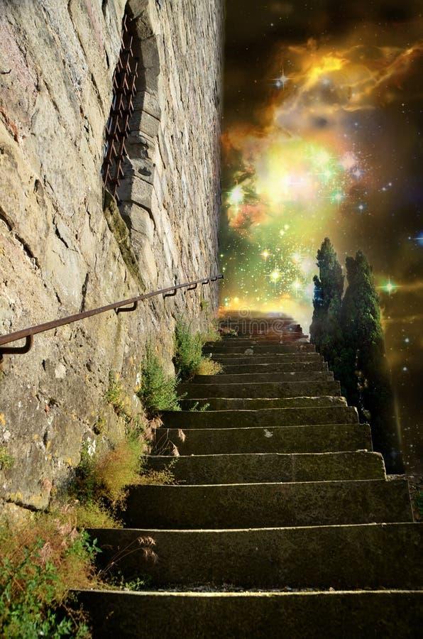 Weg aan hemel stock illustratie