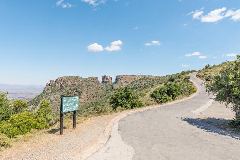 Weg aan het gezichtspunt van de Vallei van Verlatenheid stock fotografie