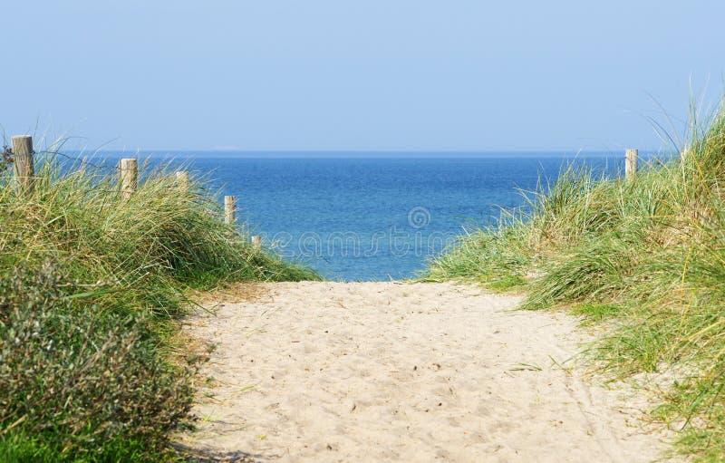 Weg aan het strand royalty-vrije stock afbeelding