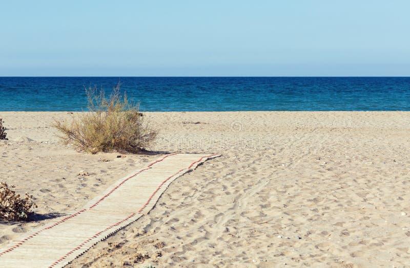 Weg aan het Strand stock afbeelding
