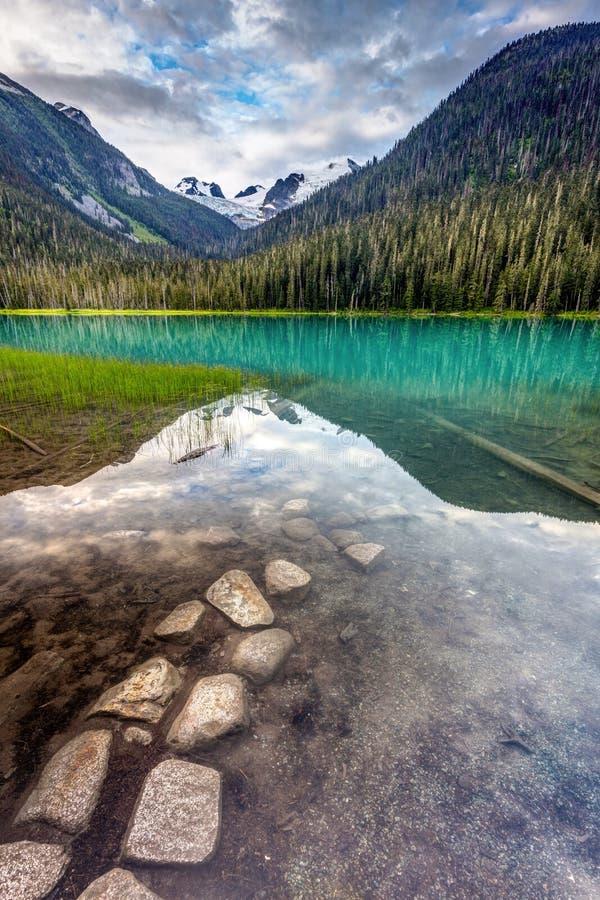 Weg aan Joffre Lake stock fotografie