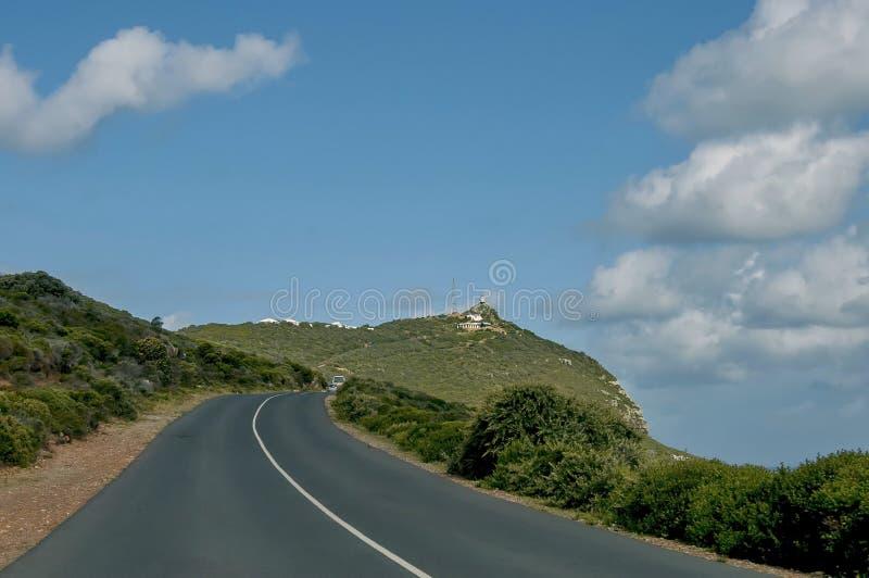 Weg aan Kaap van Goede Hoop stock fotografie