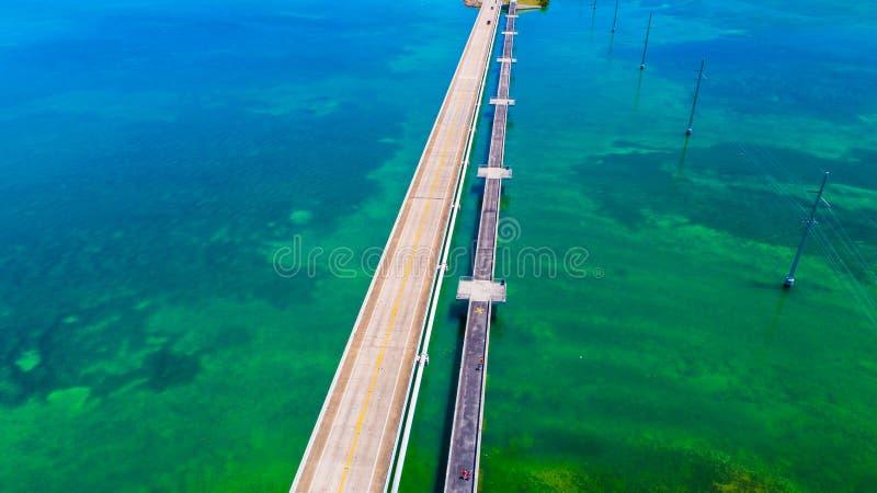 Weg aan Key West over overzees en eilanden, de sleutels van Florida, de V.S. royalty-vrije stock afbeeldingen