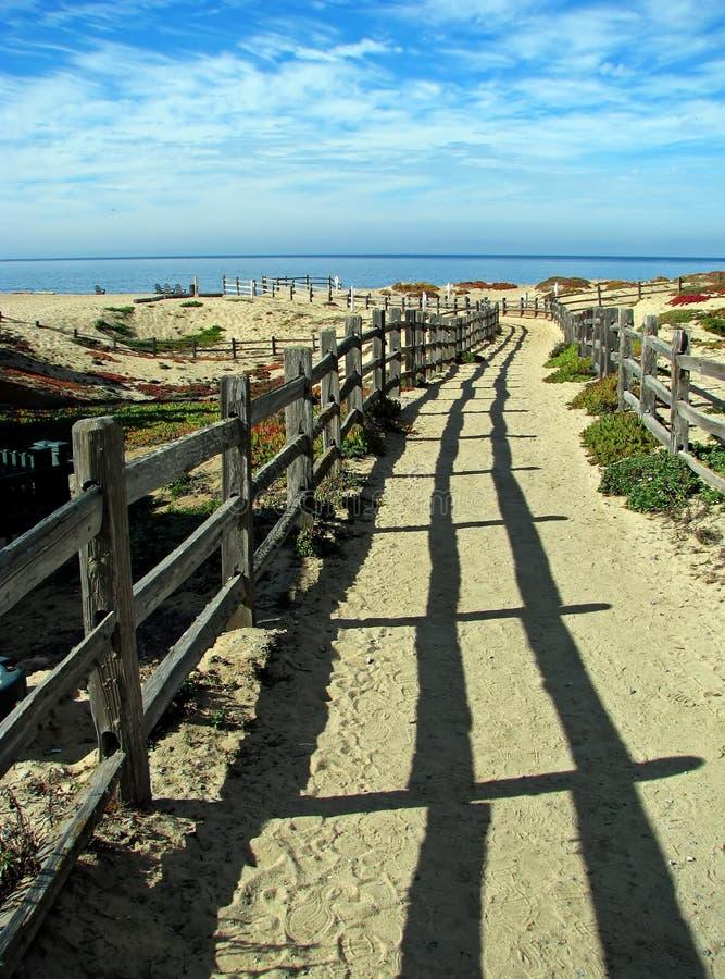Weg aan Oceaan op Monterey-Baai royalty-vrije stock foto