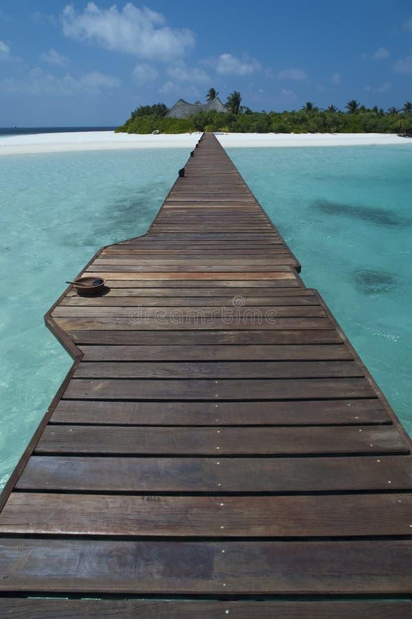 Weg aan paradijs - de Maldiven royalty-vrije stock fotografie