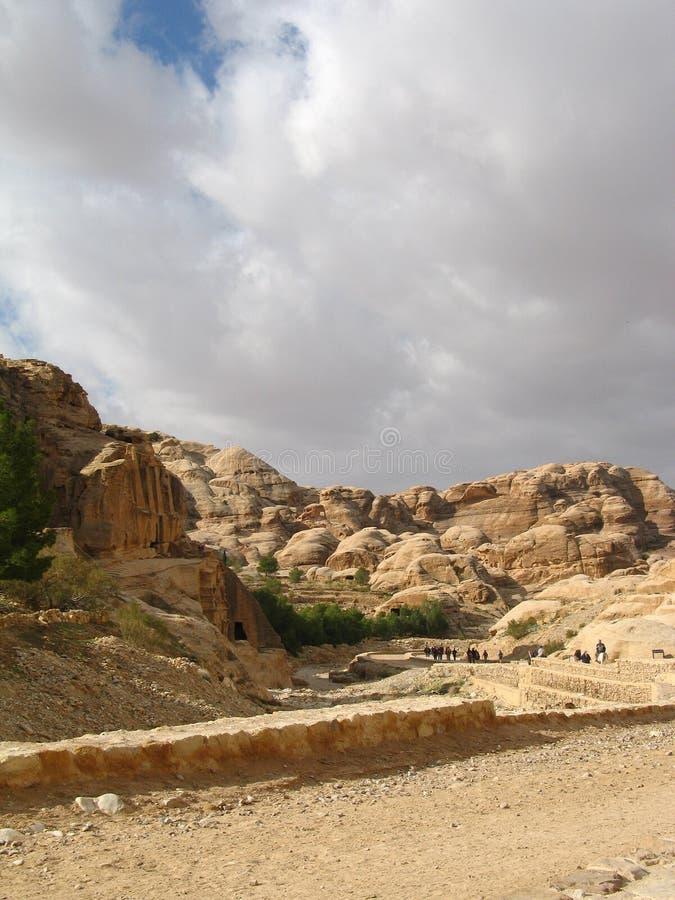 Weg aan Petra royalty-vrije stock foto
