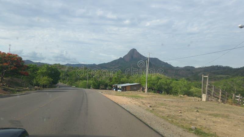 Weg aan Rama, Nicaragua stock foto