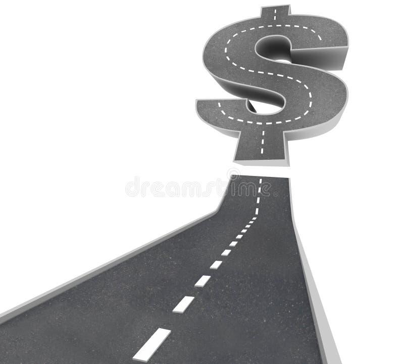 Weg aan Rijkdom - het Teken van de Dollar op Straat