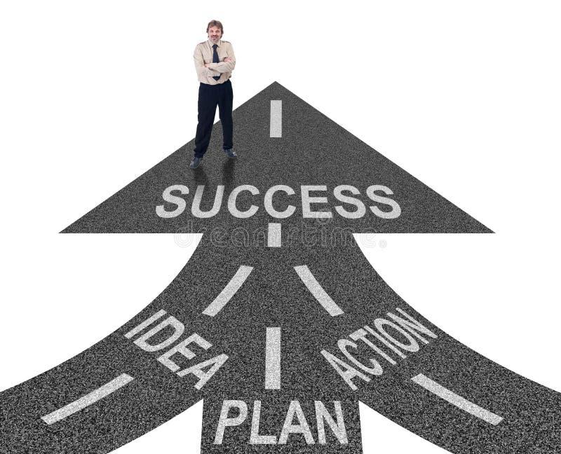 Weg aan succes stock afbeelding