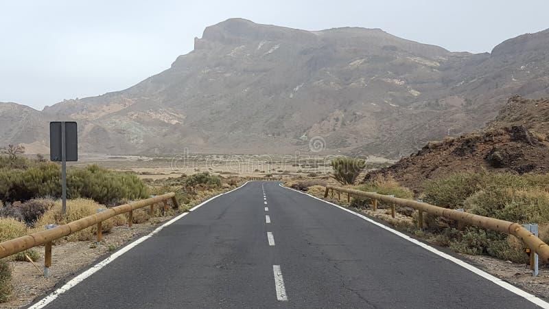 Weg aan Teide/Tenerife/Spanje royalty-vrije stock foto
