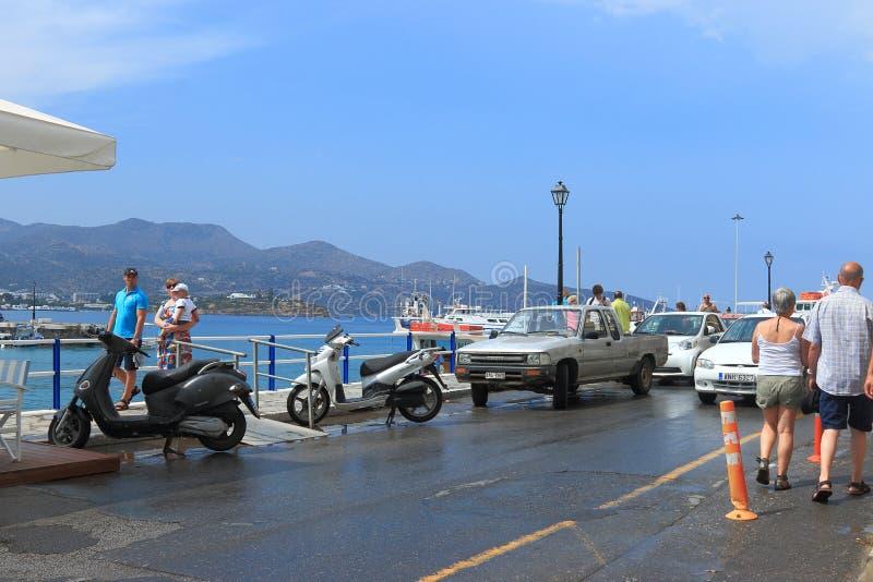 Weg in Agios Nikolaos stockbilder