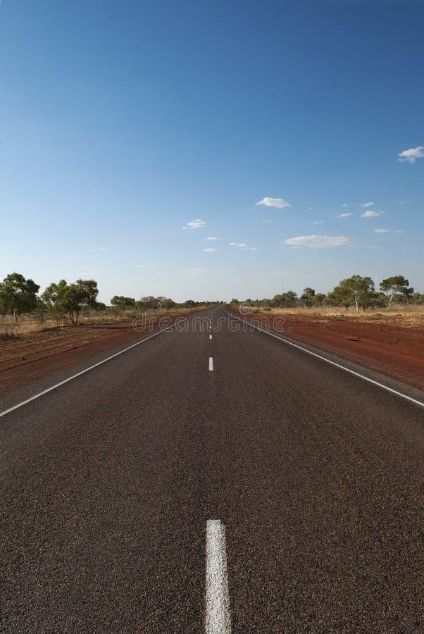 Weg in Australië stock fotografie