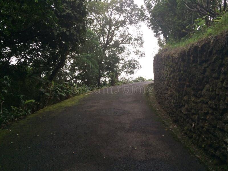 Weg in bergen in Grecia, Costa Rica royalty-vrije stock afbeelding