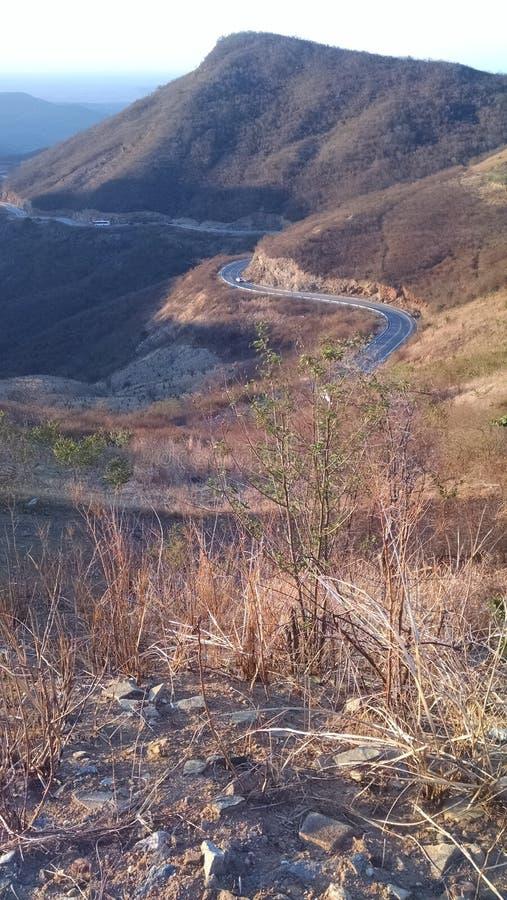 Weg bij Braziliaanse heuvel stock afbeeldingen
