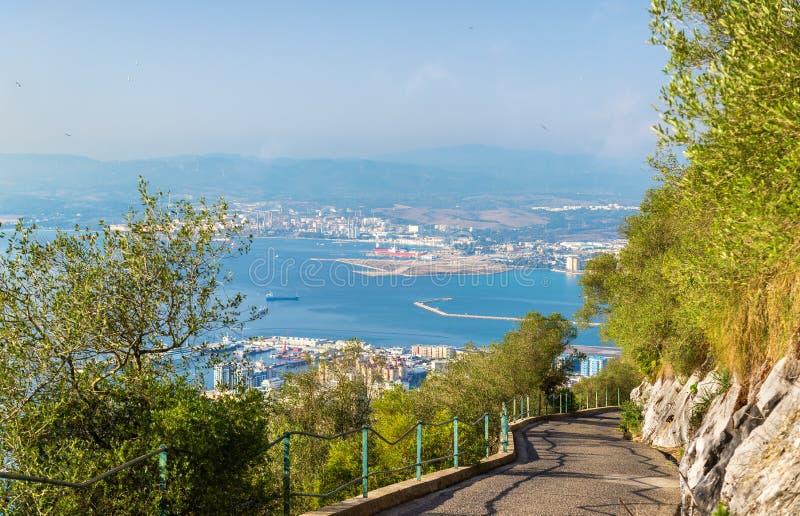 Weg bij de Rots van Gibraltar royalty-vrije stock afbeelding