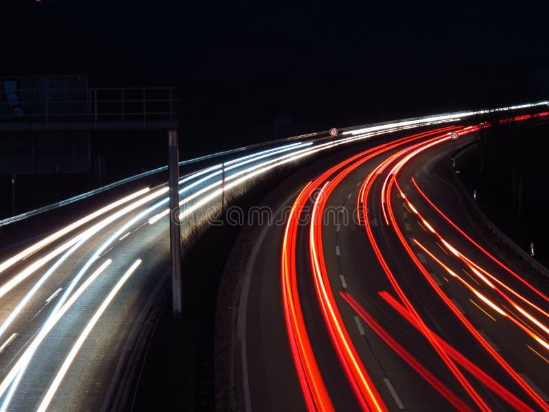 Weg bij Nacht stock fotografie