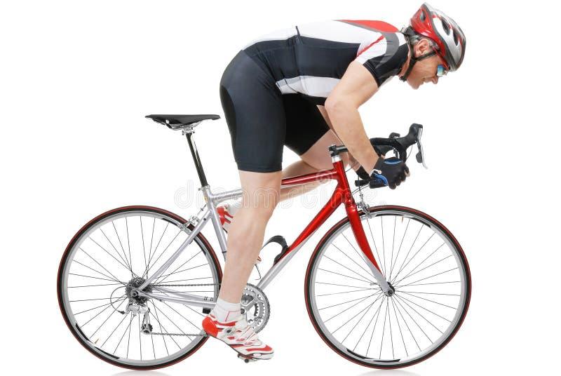 Weg cycler stock foto