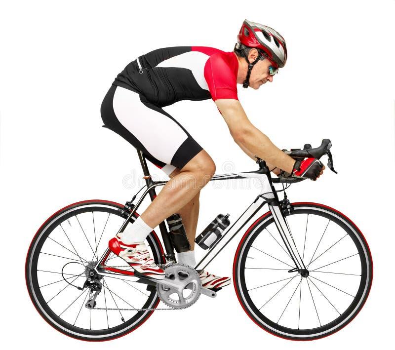 Weg cycler stock afbeelding