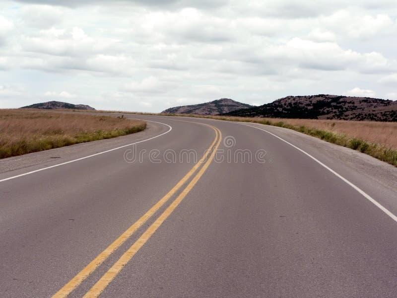 Weg in de Bergen van Wichita van Oklahoma stock afbeelding
