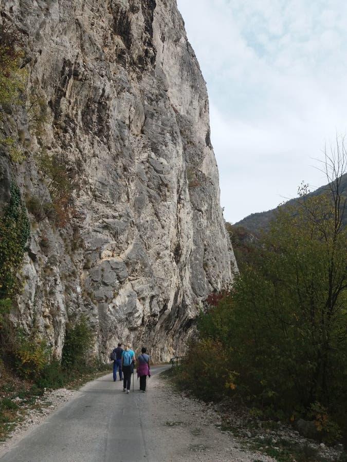 Weg in de canion van Ovcar - Kablar- stock afbeelding
