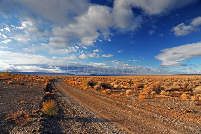 Weg in de prairie stock afbeelding