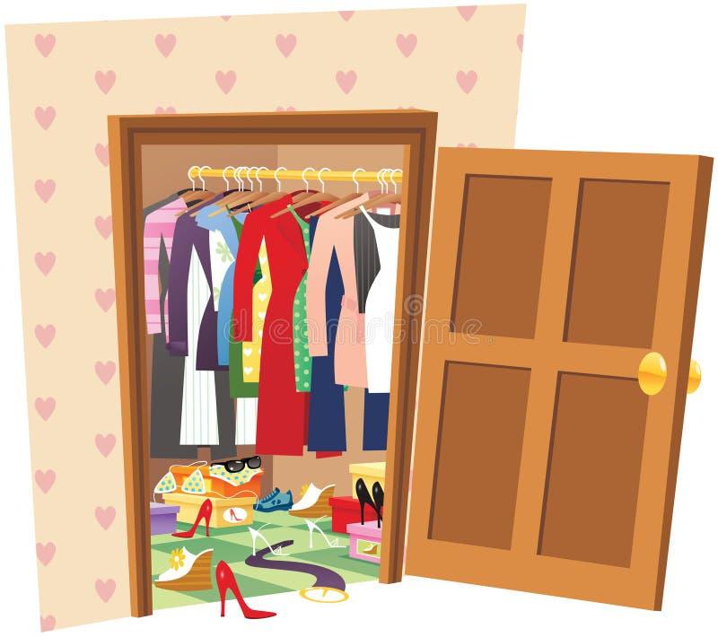 Weg in der Garderobe stock abbildung
