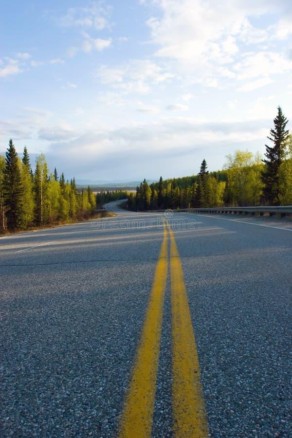 Weg door Alaska royalty-vrije stock foto's